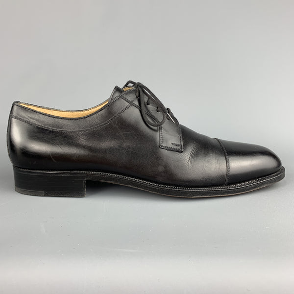 ARTHUR BEREN for GRAVATI Size 11 Black Solid Leather Cap Toe Lace Up Shoes