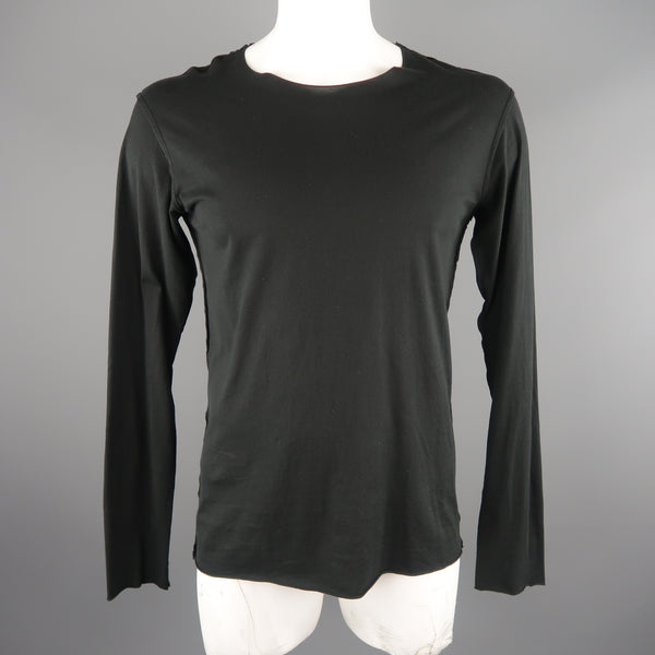 ATTACHMENT Size L Black Cotton Long Sleeve T-Shirt