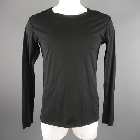 ATTACHMENT Size L Black Cotton Long sleeve t-shirt - Sui Generis Designer Consignment