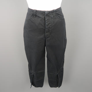 BALENCIAGA Size 6 Black Cotton Casual Pants