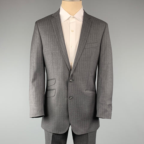 BEN SHERMAN 40 Gray Stripe Wool 33 x 30 Notch Lapel  Suit