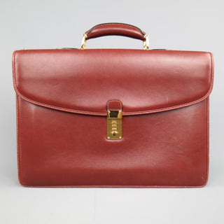 BIANCHI e NARDI Cheery Brown & Gold Leather Briefcase