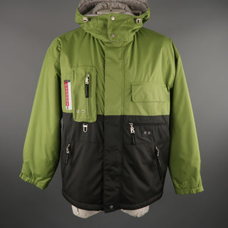 BOGNER 40 Green Polyamide Hooded Ski Jacket