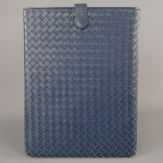 BOTTEGA VENETA Navy Woven Intrecciato Leather iPad Tablet Case