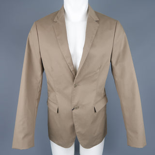 CALVIN KLEIN COLLECTION 38 Taupe Cotton Blend Notch Lapel Sport Coat Jacket