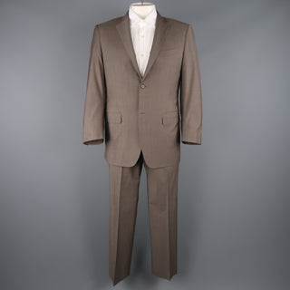CANALI 42 Regular Taupe Wool Notch Lapel 2 Button Single Breasted  Suit