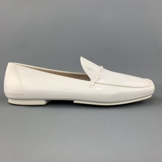 CESARE PACIOTTI Size 10 White Rubber Slip On Loafers