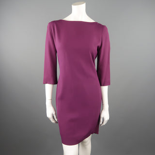 CHRISTIAN DIOR Size 10 Purple Open Back Embroidered Sash Dress