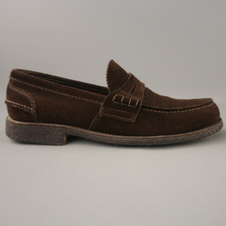 CHURCH'S Size 11 Brown Solid Suede Slip On Loafers