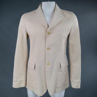 COMME des GARCONS 40 Khaki Beige Cotton Sport Coat Jacket AD 2003