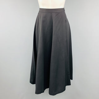 COMME des GARCONS Size S Black Wool Ruffle Full Wrap Slit Skirt