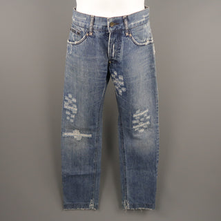 DOLCE & GABBANA Size 30 Indigo Distressed Denim Jeans