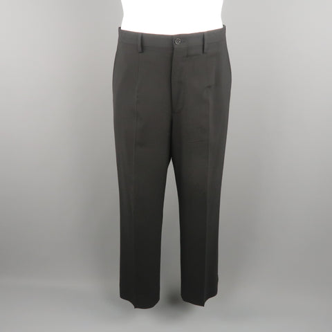 DOLCE & GABBANA Size 34 Black Solid Wool Blend Dress Pants - Sui Generis Designer Consignment
