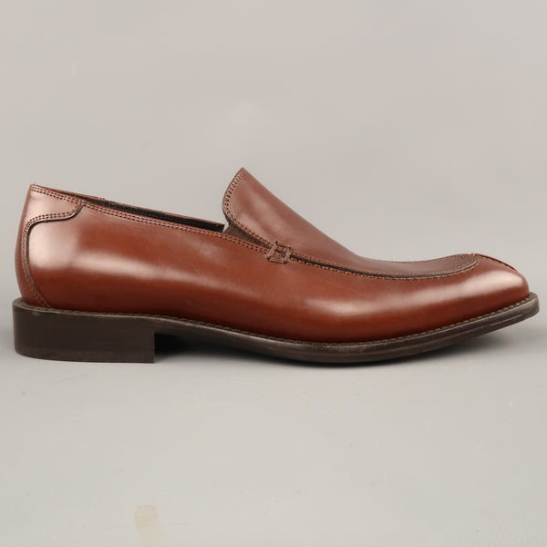 DONALD J PLINER Size 9 Cognac Leather Split Apron Toe  Loafers