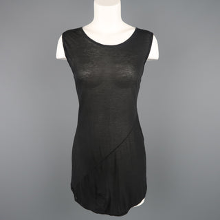 DRKSHDW by RICK OWENS Size M Black Viscose / Silk Burnout Tank