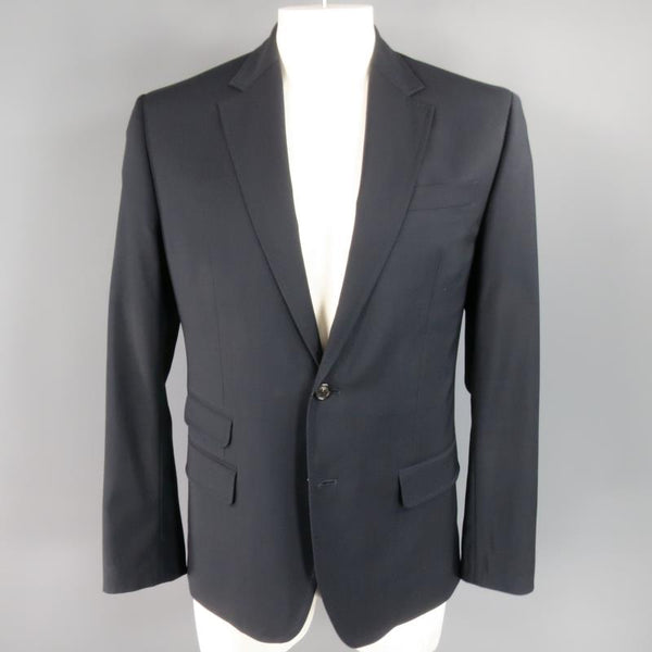 DSQUARED2 44 Regular Navy Solid Wool Sport Coat