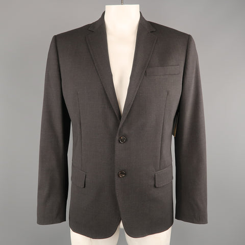 DSQUARED2 Size 44 Charcoal Wool Blend Notch Lapel Sport Coat