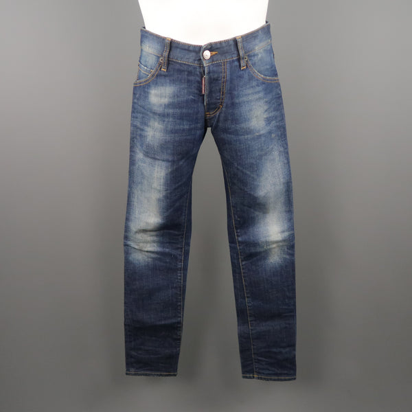 DSQUARED2 Size 30 Indigo Washed Denim Jeans