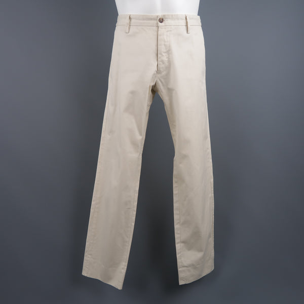 DSQUARED2 Size 32 Cream Solid Cotton l Pants