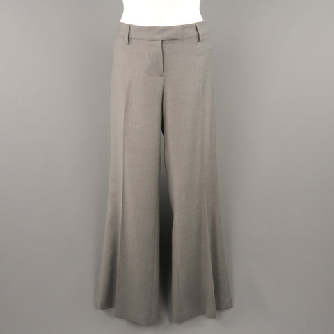 EMILIO PUCCI Size 10 Gray Virgin Wool  Wide Leg Dress Pants