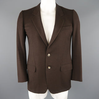 ERMENEGILDO ZEGNA 40 Regular Brown Wool / Cashmere Sport Coat