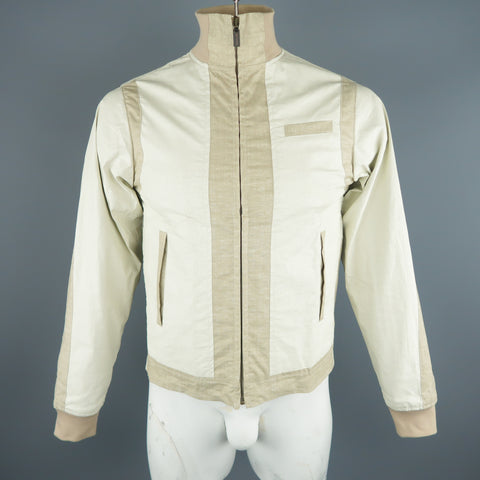 ETRO M Beige Color Block Linen Blend Jacket