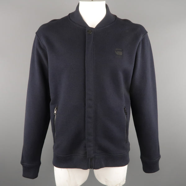 G-STAR XL Navy Textured Cotton Jacket