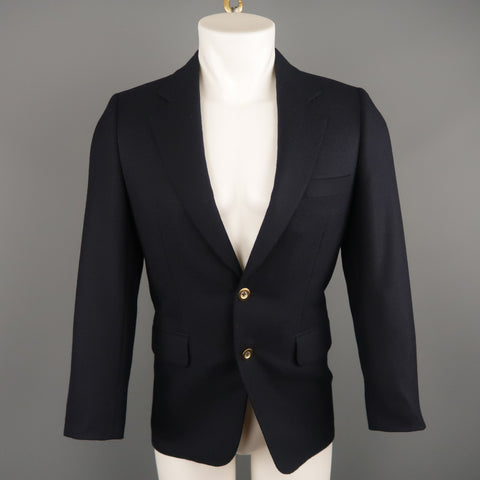 GEORGE REPINEC 36 Navy Wool Sport Coat