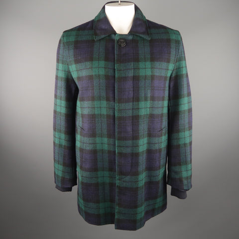 GOLDEN BEAR X UNIONMADE Large Blackwatch Plaid Wool Coat