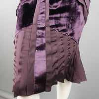 6db5c2193b95 Home; GUCCI by TOM FORD 4 Purple Silk Velvet Panel 2004 Final Collection  Skirt Suit. -64 %. Click to Zoom
