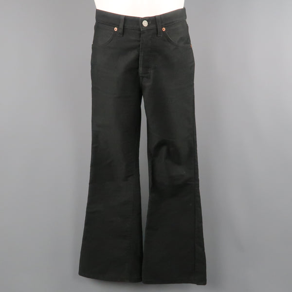 GUCCI by TOM FORD Size 29 Black Cotton Flared Bell Bottom Jeans