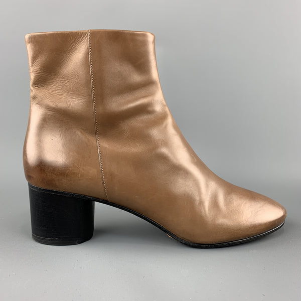 ISABEL MARANT Size 7 Tan Leather Danay Ankle Boots