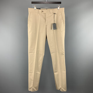 JACK SPADE Size 33 x 34 Khaki Solid Cotton Zip Fly Dress Pants
