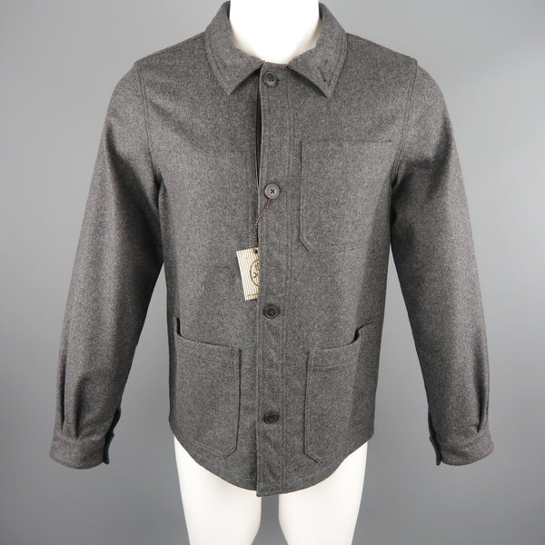 JC de CASTELBAJAC 38 Dark Gray Wool Blend Coat