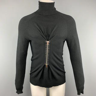 JEAN PAUL GAULTIER Size XS Black Solid Wool Turtleneck  Pullover