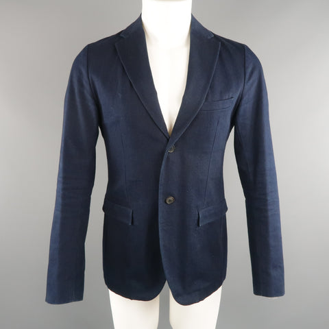 JIL SANDER 38 Indigo Solid Denim Sport Coat Jacket