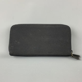 JIL SANDER Black Fabric Leather Wallet / Purse
