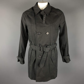 KAI AAKMANN L Black Cotton Double Breasted Trenchcoat