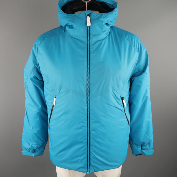 KJUS 42 Aqua Solid Polyamide Hooded Coat Jacket