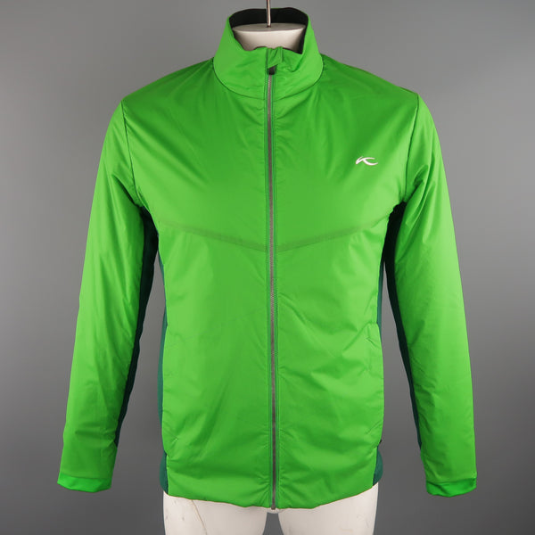 KJUS 42 Green Solid Polyamide Jacket