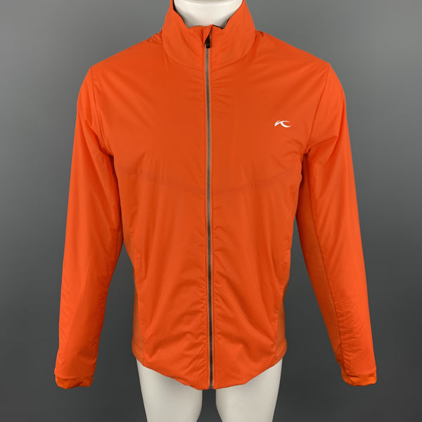 KJUS 42 Orange Polyamide Zip Up Jacket