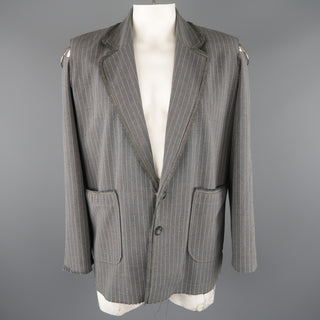 KLEI 40 Grey Stripe Wool Jacket