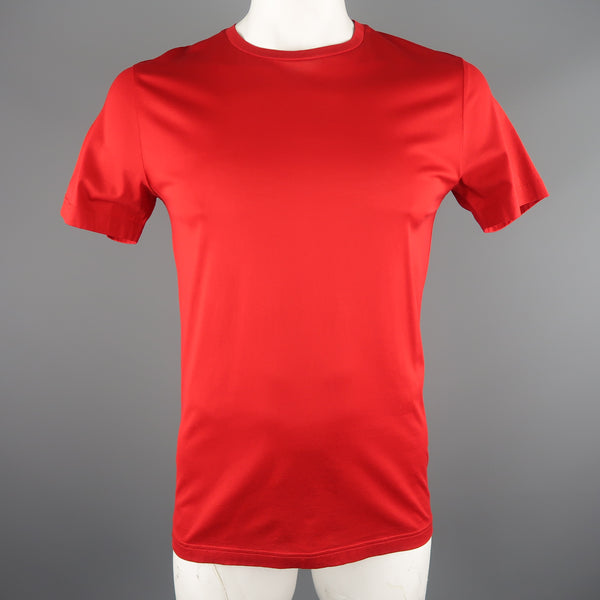 LES HOMMES Size L Red Cotton T-shirt