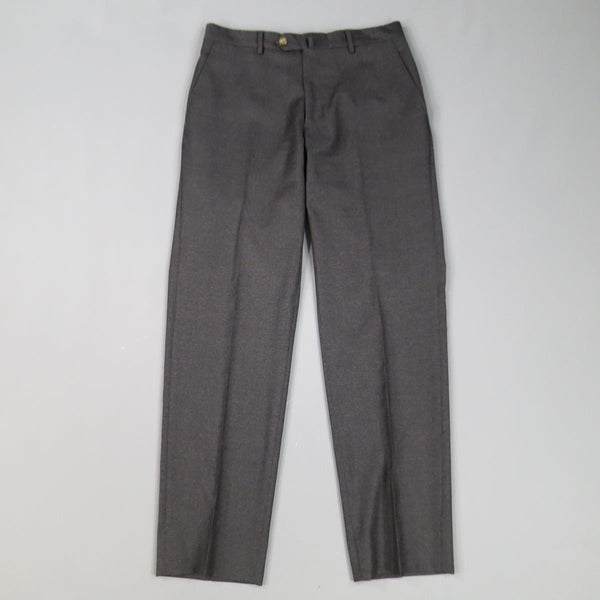 LUCIANO BARBERA Size 31 Charcoal Solid Wool Dress Pants - Sui Generis Designer Consignment