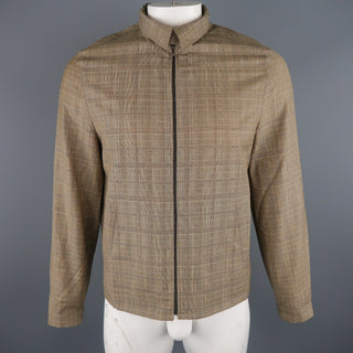 NEIL BARRETT M Tan Plaid Wool Jacket