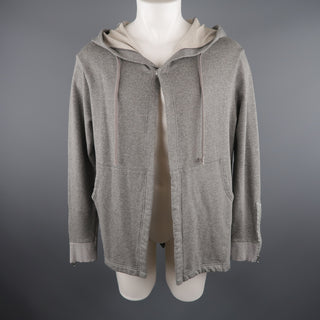 ONES STROKE 42 Grey Cotton Hooded Jacket