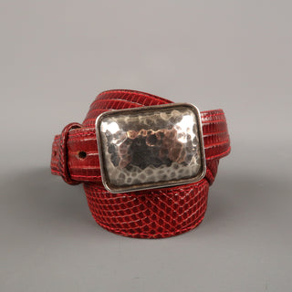PAT AREIAS Sterling Size 32 Red Belt