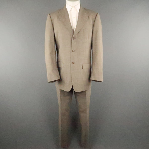 PAUL SMITH Chest Size 40 Brown Solid Rayon Notch Lapel Sport Coat