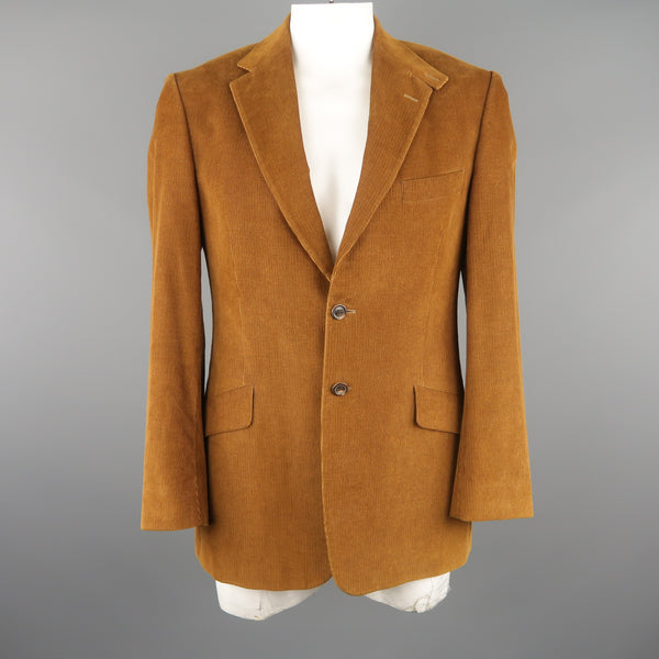 PAUL SMITH 40 Tan Corduroy Notch Lapel Sport Coat