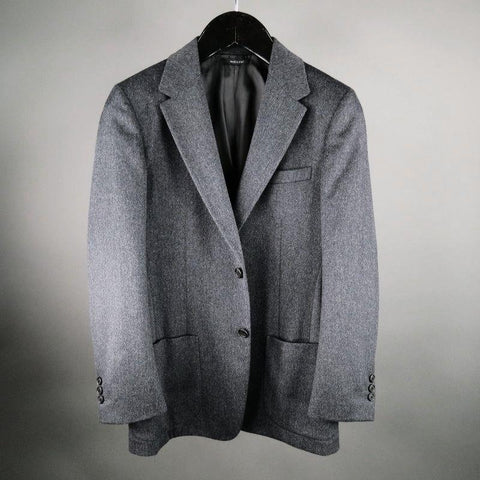 PRADA 40 Regular Charcoal Solid Camel Hair Sport Coat